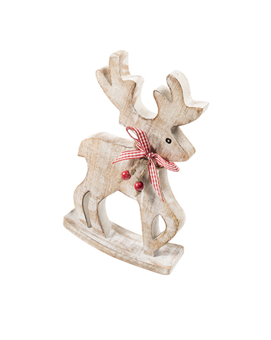 Wooden Rocking Reindeer Christmas Decoration