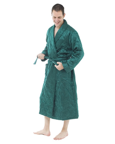 Quilted Silk Dressing Gown - Men - Nightwear - Dressing Gowns ... : quilted dressing gown - Adamdwight.com